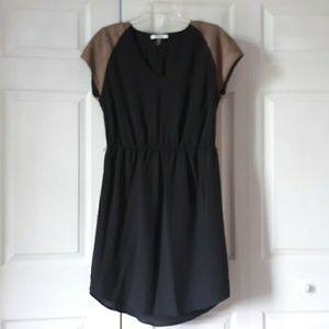 DKNYC Women's Dress w/ Faux Suede Sleeves